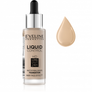 Fond de Ten Liquid Control Matifiant 24H Eveline - 030 Sand Beige0