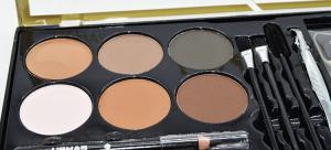 Kit Sprancene Mega Palette Brow USHAS - Fard Sprancene, Creion Sprancene, Pensule, Perie, Penseta, Sabloane3