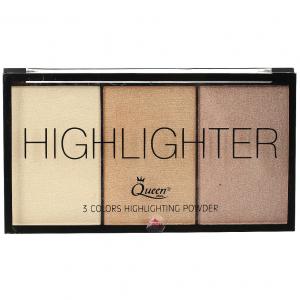 Paleta Iluminatoare Queen 3 culori Highlighter - 020