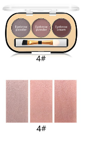 Trusa Sprancene 3 in 1 Eyebrow Powder & Eyebrow Cream Miss Rose - 042