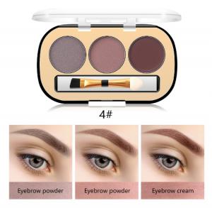 Trusa Sprancene 3 in 1 Eyebrow Powder & Eyebrow Cream Miss Rose - 041