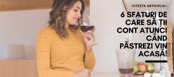 6 Sfaturi de care să ții cont atunci când păstrezi vin acasă !
