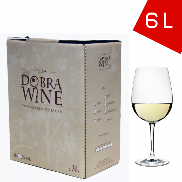 Vin Alb Demisec - Bag in box 6L 0