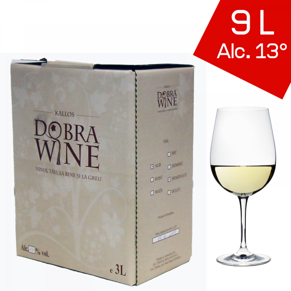 Vin Alb Demisec - Bag in box 9L 0