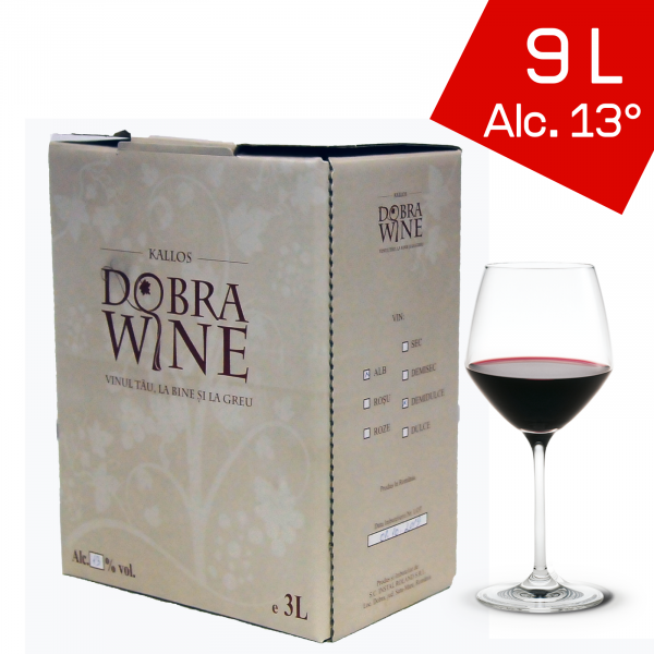 Vin Roșu Demisec - Bag in box 9L 0