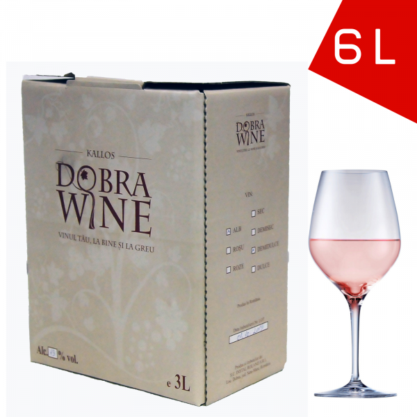 Vin Rosé Demisec - Bag in box 6L 0