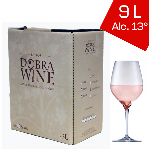 Vin Rosé Demisec - Bag in box 9L 0