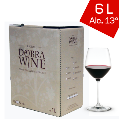 Vin Roșu Demisec - Bag in box 6L0