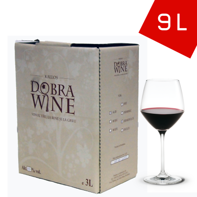 Vin Roșu Demisec - Bag in box 9L0