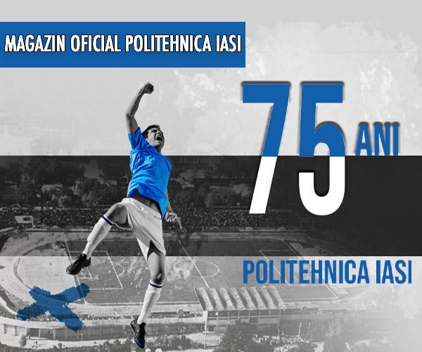 Banner aniversar Politehnica Iasi 75 ani