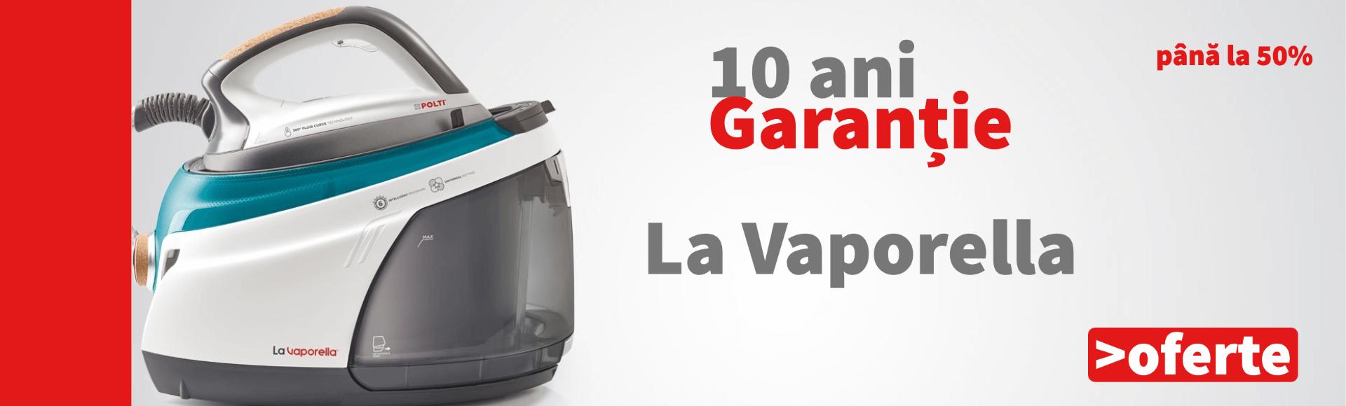 10 Ani Garanție pentru Stațiile de călcat La Vaporella! Află mai mult