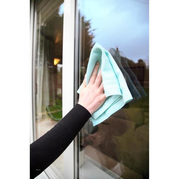 Set doua lavete premium din microfibra e-cloth pentru geamuri, oglinzi, vitralii, pervaze si tocarie 2