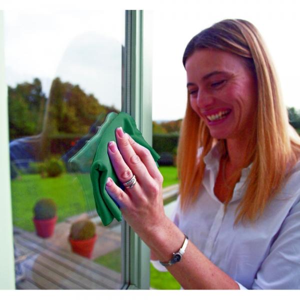 Set doua lavete premium din microfibra e-cloth pentru geamuri, oglinzi, vitralii, pervaze si tocarie 3