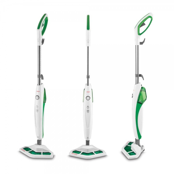 Resigilat_Aparat de Curatat cu Abur Polti Vaporetto SV 400 Hygiene,1500 W, 2.4 Kg, Alb/Verde 1