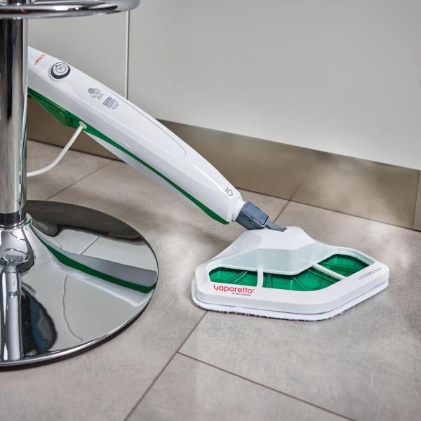 Resigilat_Aparat de Curatat cu Abur Polti Vaporetto SV 400 Hygiene,1500 W, 2.4 Kg, Alb/Verde 4