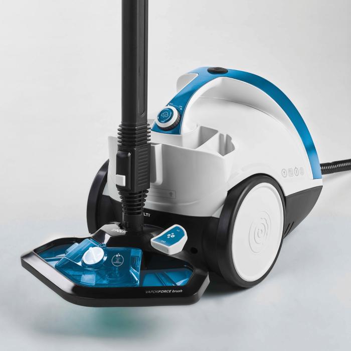 Aparat de Curatat cu Abur Vaporetto Smart 100_T, 1500 W, 2 l, 4 Bar, 110 gr/min, Alb/Albastru 3