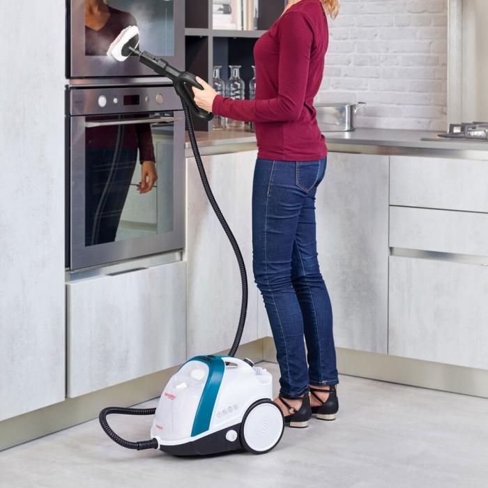 Aparat de Curatat cu Abur Vaporetto Smart 100_T, 1500 W, 2 l, 4 Bar, 110 gr/min, Alb/Albastru 5