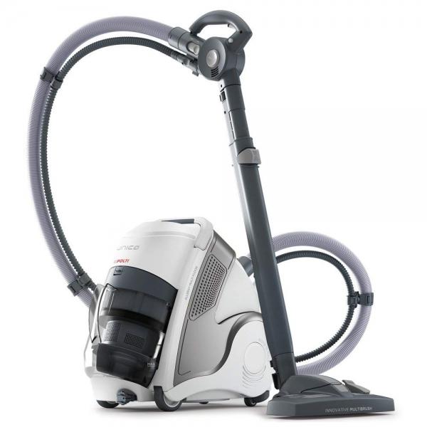 Aspirator Polti Unico MCV 20 Allergy Multifloor, Filtrare Multiciclonica 5 Stadii, Functie Igienizare Abur si Uscare, 2200 W, Filtru Hepa, Argintiu 0