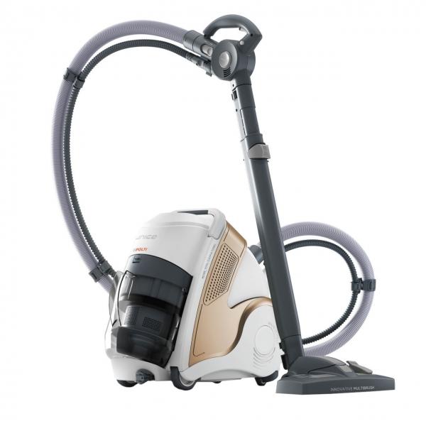 Resigilat_Aspirator Polti Unico MCV 85 Total Clean & Turbo, Filtrare Multiciclonica 5 Stadii, Functie Igienizare Abur si Uscare , 2200 W, Filtru Hepa, Auriu 0