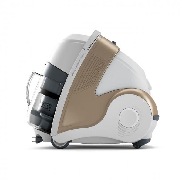 Aspirator Polti Unico MCV 85 Total Clean & Turbo, Filtrare Multiciclonica 5 Stadii, Functie Igienizare Abur si Uscare , 2200 W, Filtru Hepa, Auriu 2