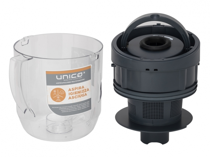 Aspirator Polti Unico MCV 85 Total Clean & Turbo, Filtrare Multiciclonica 5 Stadii, Functie Igienizare Abur si Uscare , 2200 W, Filtru Hepa, Auriu 9