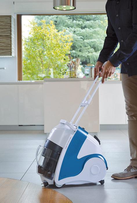 Aspirator Polti Unico MCV 8o Total Clean & Turbo, Filtrare Multiciclonica 5 Stadii, Functie Igienizare Abur si Uscare , 2200 W, Filtru Hepa, Alb/Albastru 7