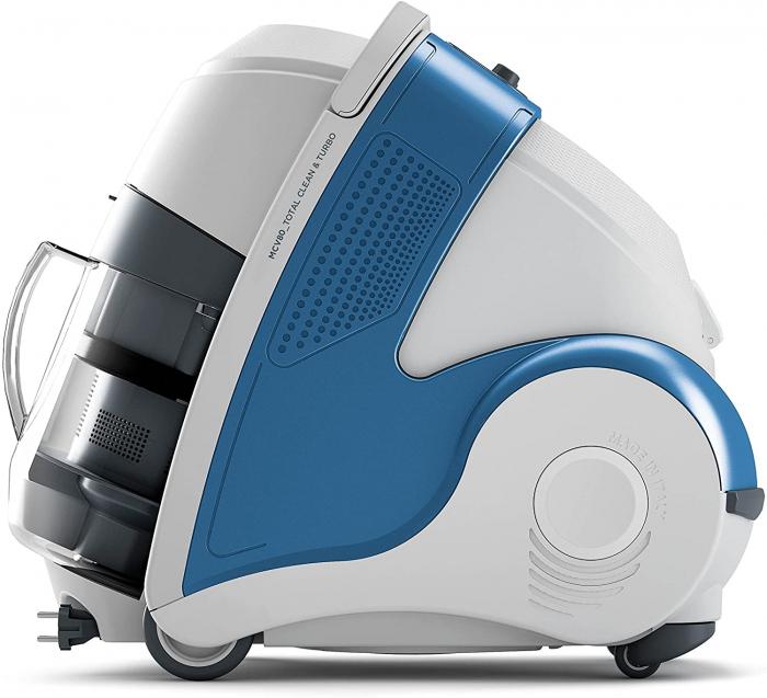 Aspirator Polti Unico MCV 8o Total Clean & Turbo, Filtrare Multiciclonica 5 Stadii, Functie Igienizare Abur si Uscare , 2200 W, Filtru Hepa, Alb/Albastru 6