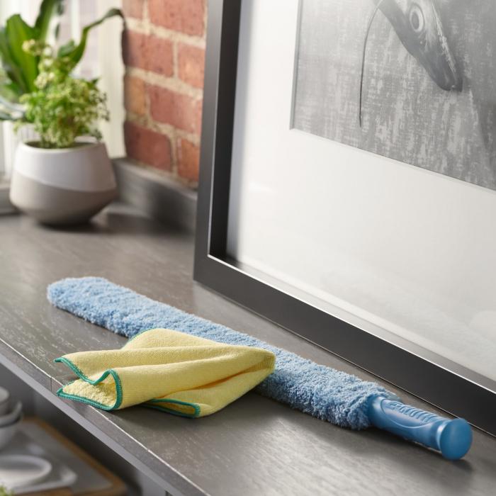 Set Doua Lavete Premium E-Cloth din Microfibra pentru Stergerea Prafului, 32 x 32 cm [5]