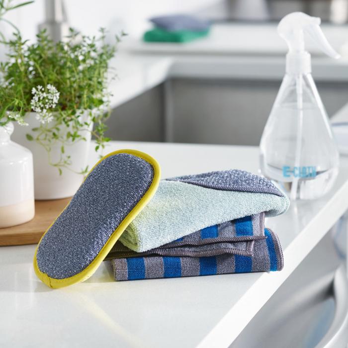 Laveta Premium E-Cloth din Microfibra pentru Curatarea Bucatariei, Compartiment Abraziv, 32 x 32 cm [2]