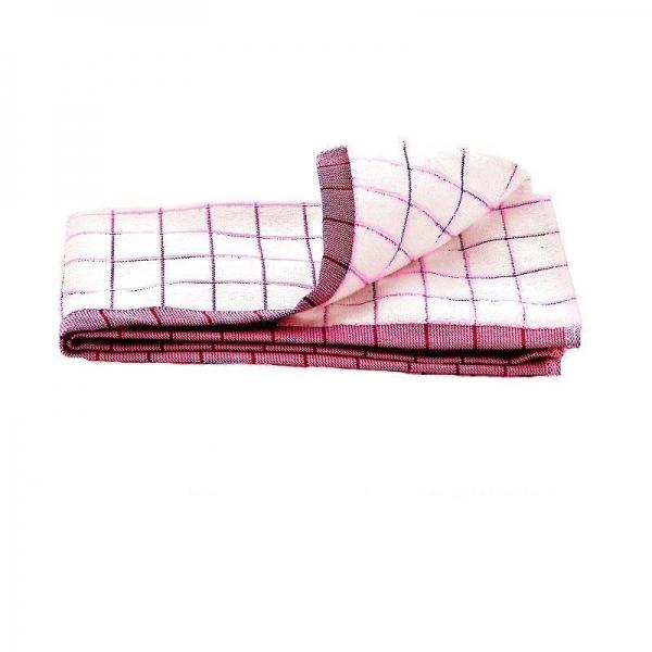 Prosop Premium E-Cloth de Bucatarie pentru Pahare, Farfurii de Portelan, Tacamuri, 60 x 40 cm, Alb/Rosu 2