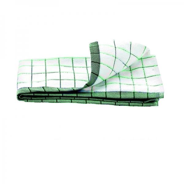 Prosop Premium E-Cloth de Bucatarie pentru Pahare, Farfurii de Portelan, Tacamuri, 60 x 40 cm, Alb/Verde 2