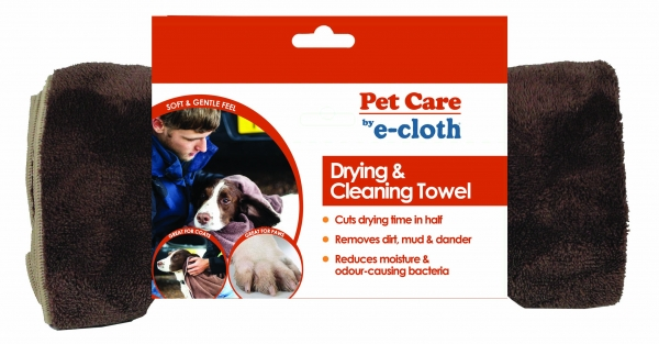 Prosop Mare Premium E-Cloth din Microfibra pentru Curatare si Uscare Caini si Pisici [1]