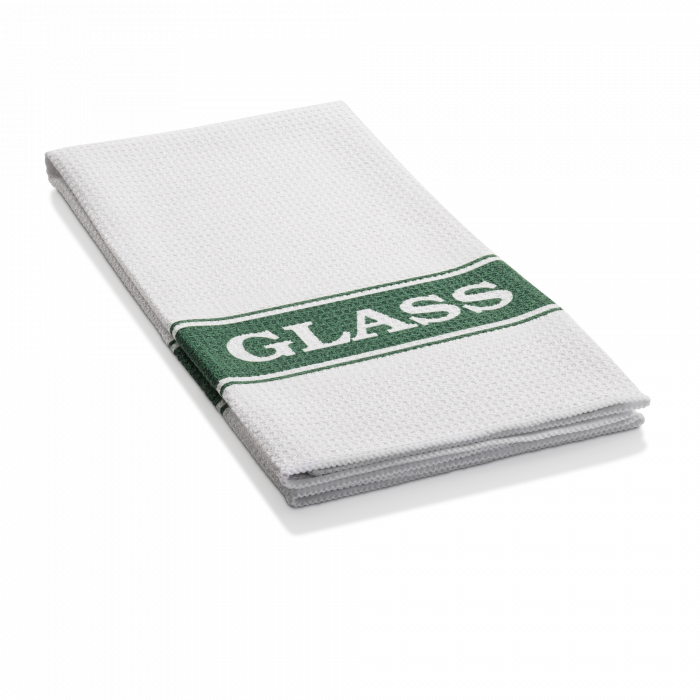 Prosop Premium de Bucatarie E-Cloth pentru Curatat Pahare, 60 x 40 cm, Alb/Verde [1]