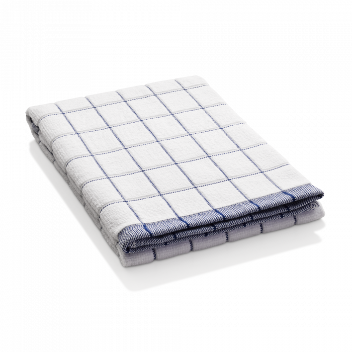 Prosop Premium E-Cloth de Bucatarie pentru Pahare, Farfurii de Portelan, Tacamuri, 60 x 40 cm, Alb/Albastru [2]