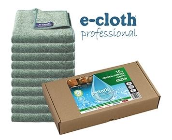Set 10 x Laveta Premium E-Cloth Universala din Microfibra, Bucatarie, Baie, Geamuri, Praf, 32 x 32 cm, Verde 0