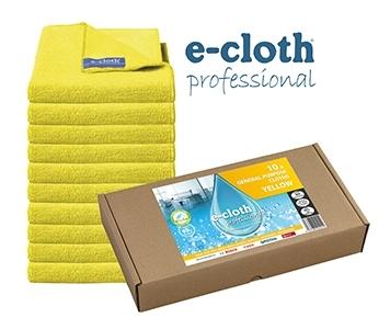 Set 10 x Laveta Premium E-Cloth Universala din Microfibra, Bucatarie, Baie, Geamuri, Praf, 32 x 32 cm, Galben 0
