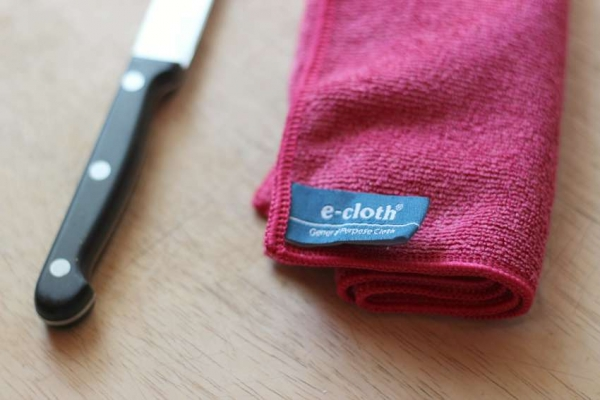 Set 10 x Laveta Premium E-Cloth Universala din Microfibra, Bucatarie, Baie, Geamuri, Praf, 32 x 32 cm, Rosu 4