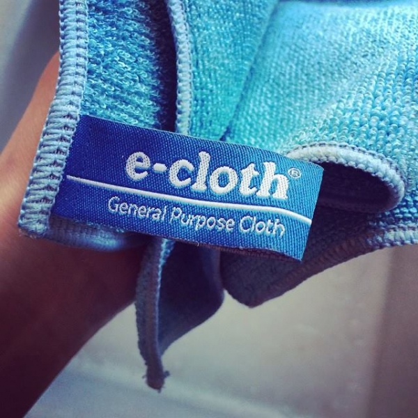 Set 10 x Laveta Premium E-Cloth Universala din Microfibra, Bucatarie, Baie, Geamuri, Praf, 32 x 32  cm, Albastru 2
