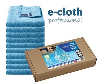 Set 10 x Laveta Premium E-Cloth Universala din Microfibra, Bucatarie, Baie, Geamuri, Praf, 32 x 32  cm, Albastru 0