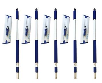 Set 5 x Mop Profesional Premium E-Cloth, Maner + Baza, Telescopic 1-1.5 m, Pardoseli, Hotel, Restaurant, Pub 1