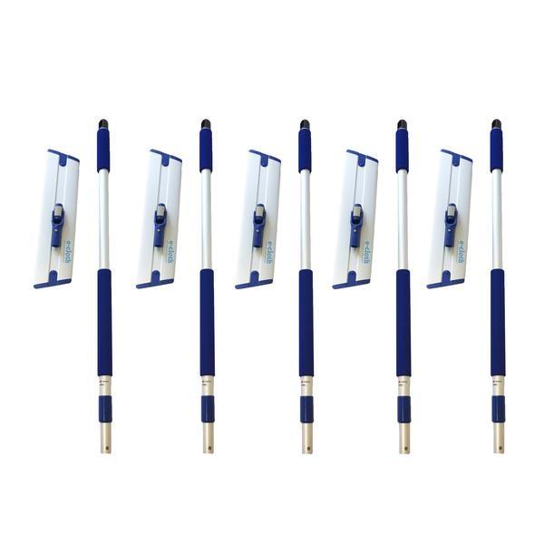 Set 5 x Mop Profesional Premium E-Cloth, Maner + Baza, Telescopic 1-1.5 m, Pardoseli, Hotel, Restaurant, Pub 0