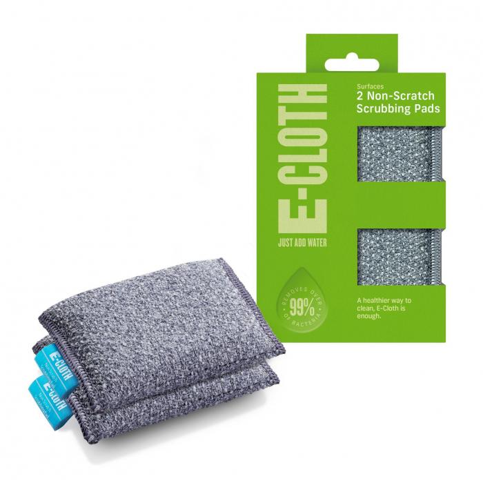 Set Doi Bureti Premium E-Cloth din Microfibra pentru Bucatarie si Baie, Cada, Chiuveta [0]