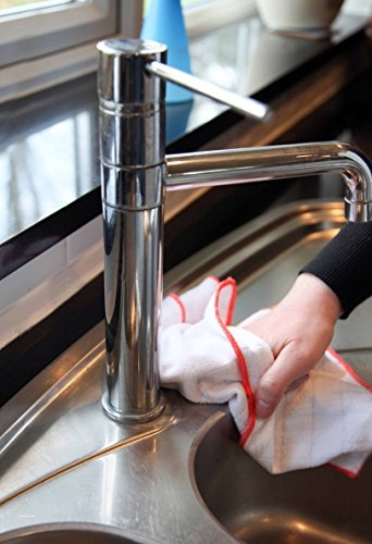 Set Doua Lavete Premium E-Cloth din Microfibra Antibacteriana pentru Spalat si Uscat in Bucatarie, 32 x 32 cm 5