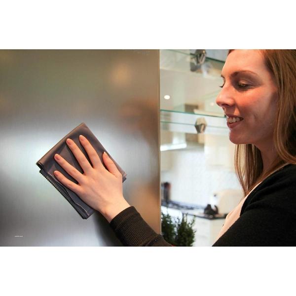 Set Doua Lavete Premium E-Cloth din Microfibra pentru Curatarea si Lustruirea Obiectelor din Inox, 32  x 32  cm 8
