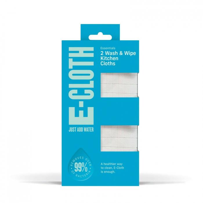 Set Doua Lavete Premium E-Cloth din Microfibra Antibacteriana pentru Spalat si Uscat in Bucatarie, 32 x 32 cm [1]