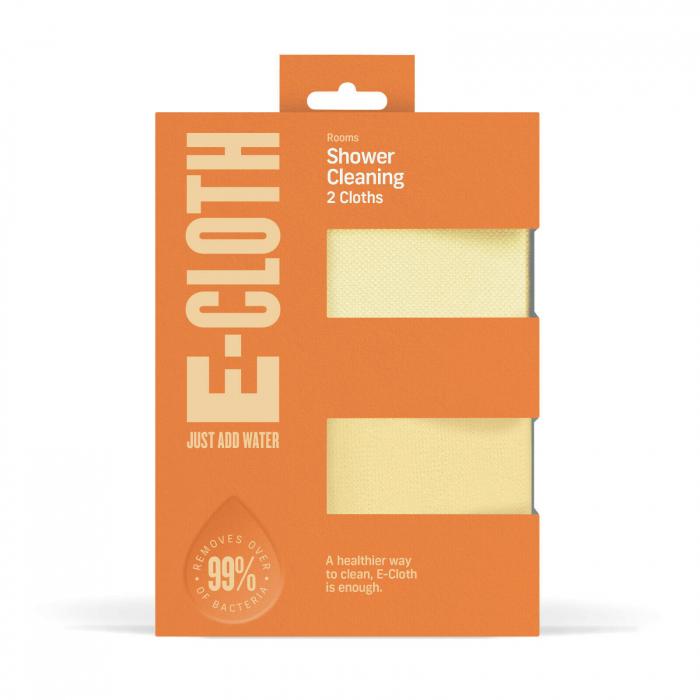 Set Doua Lavete Premium E-Cloth din Microfibra pentru Curatare si Lustruire Cabina de Dus, 32 x 32 cm, Carlig cu Ventuza [1]