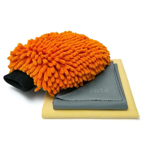 Set Premium E-Cloth din Microfibra pentru Spalat, Uscat si Lustruit Masina, 17 x 26 cm 3