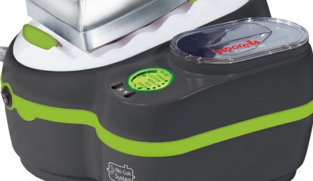 Statie de Calcat Polti Vaporella Forevere Eco, 2000 W, 0.5 l, Talpa Aluminiu, 150 gr/min, Display LCD,  Sistem Anticalcar, Gri/Verde3