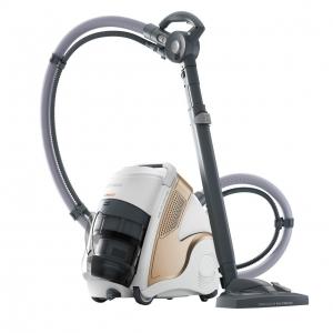 Resigilat_Aspirator Polti Unico MCV 85 Total Clean & Turbo, Filtrare Multiciclonica 5 Stadii, Functie Igienizare Abur si Uscare , 2200 W, Filtru Hepa, Auriu0