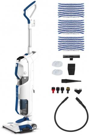 Aspirator Vertical cu Abur, Multifunctional, Polti Vaporetto 3 Clean Blue, 1800 W, 0.5 l, Cyclonic, Alb/Albastru [5]